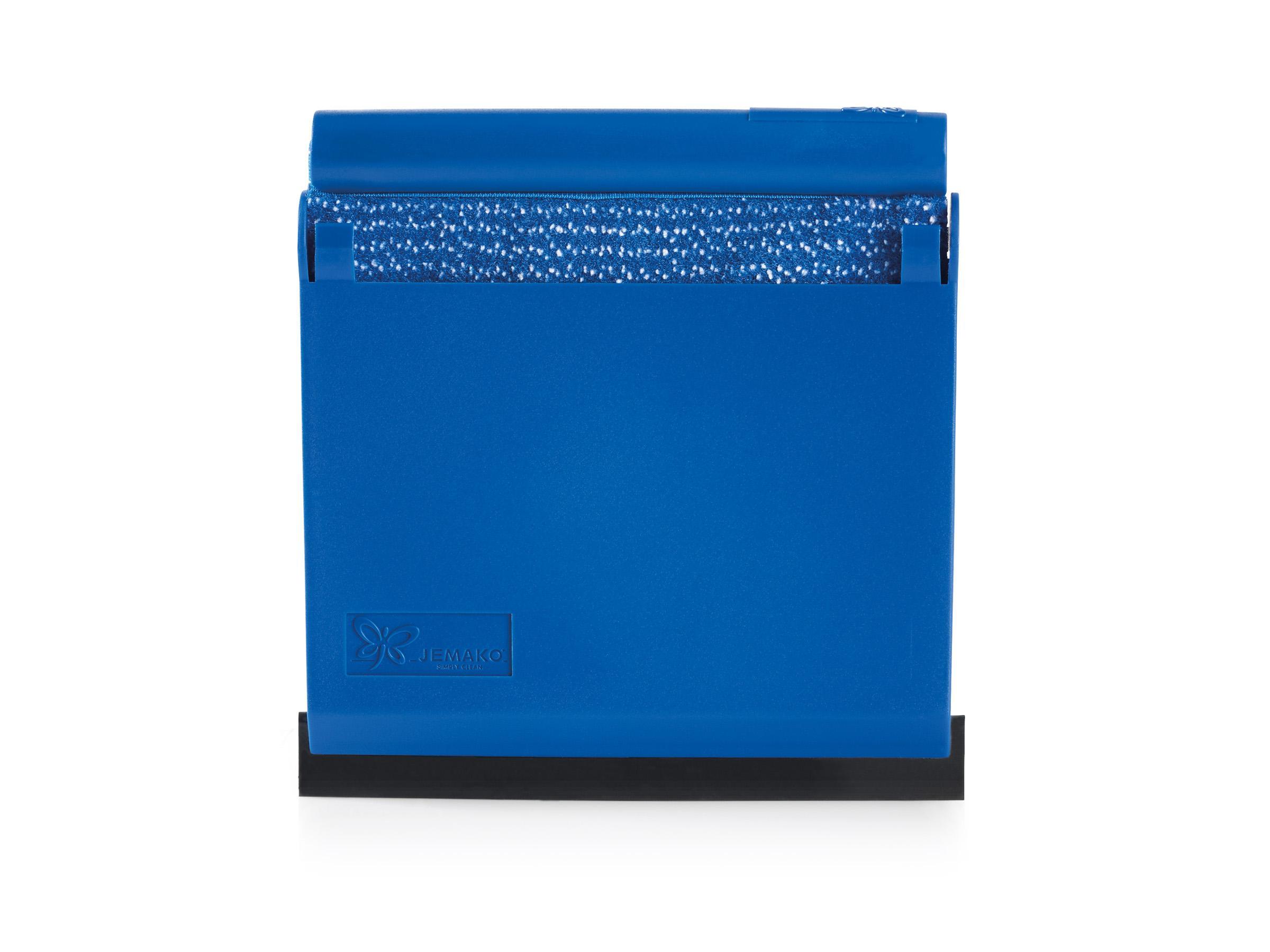 jemako scraper mit box u gummilippe blaue faser online kaufen bei topclean24. Black Bedroom Furniture Sets. Home Design Ideas